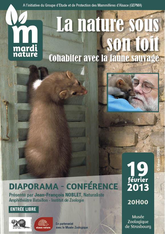 Conférence  : La Nature sous son toit Cohabiter avec la faune sauvage