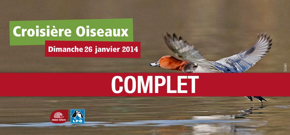 Croisière Oiseaux 2014 – DÉJÀ COMPLET !