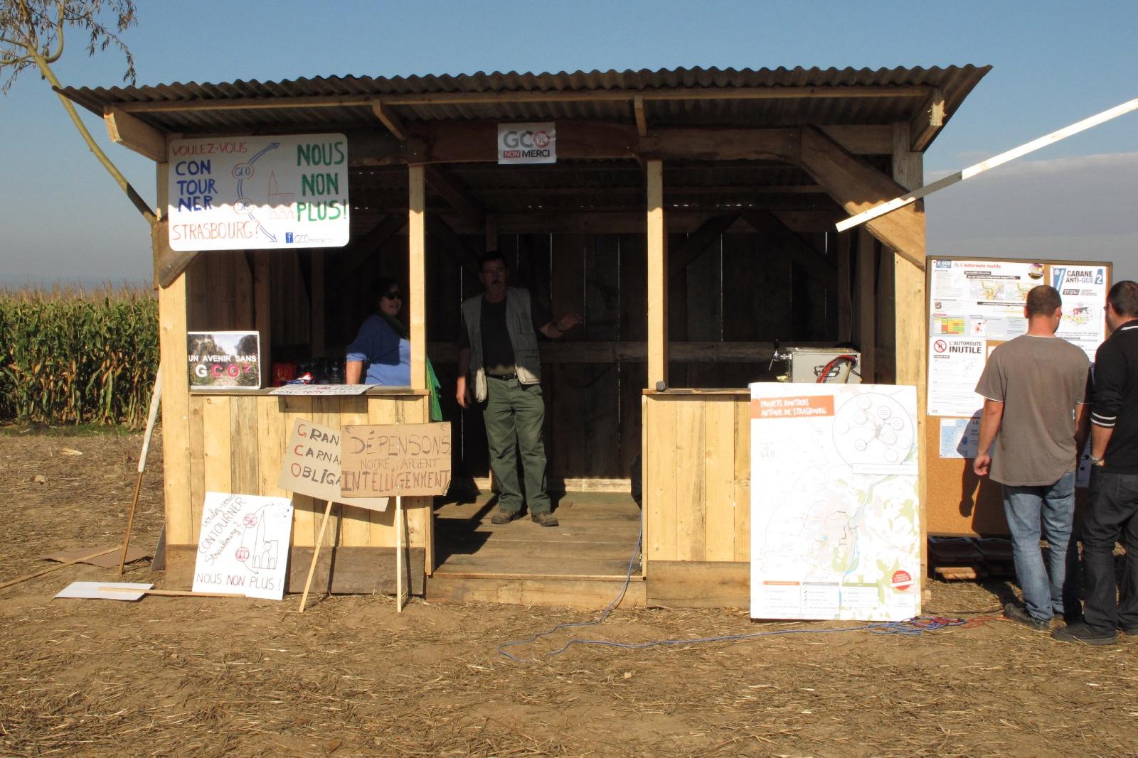 [mobilisation] GCO : Inauguration de la cabane N°2 :  « citoyens debout »