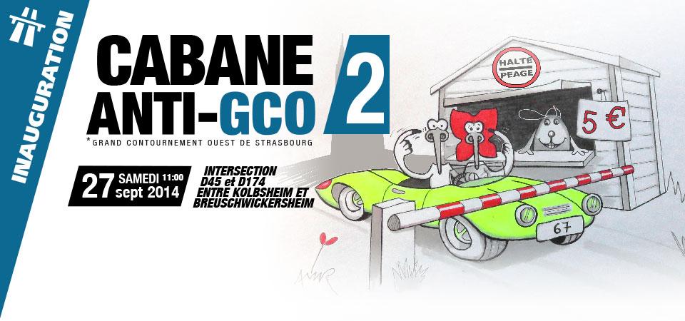 [mobilisation] GCO : occupons le terrain – inauguration de la 2ème cabane 27 septembre