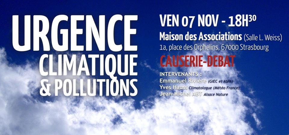 [événement] CAUSERIE DEBAT – URGENCE CLIMATIQUE, POLLUTIONS