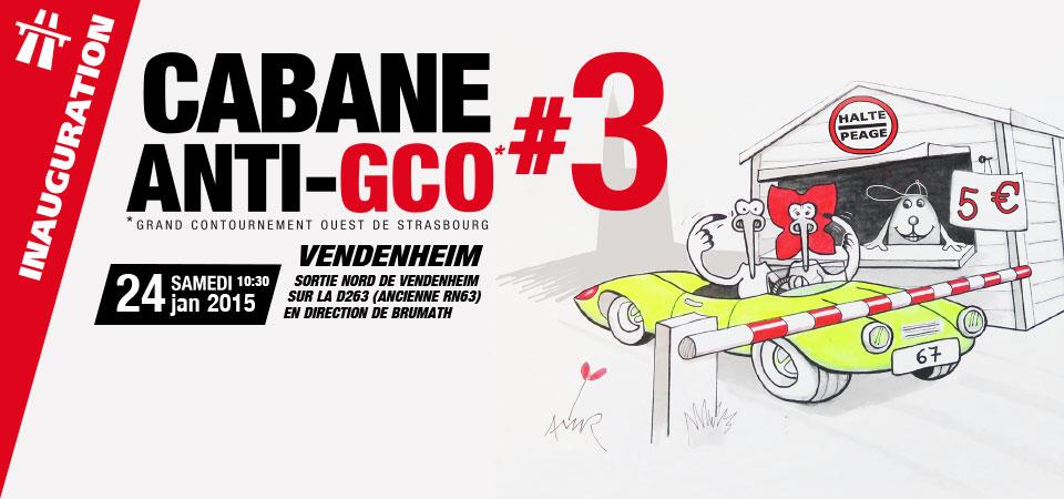 GCO : inauguration cabane #3 à Vendenheim