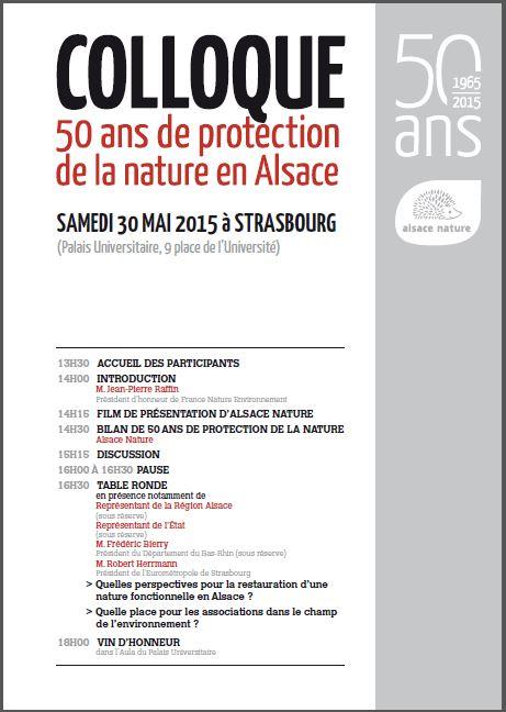 [50 ans ] COLLOQUE – 50 ans de protection de la nature en Alsace
