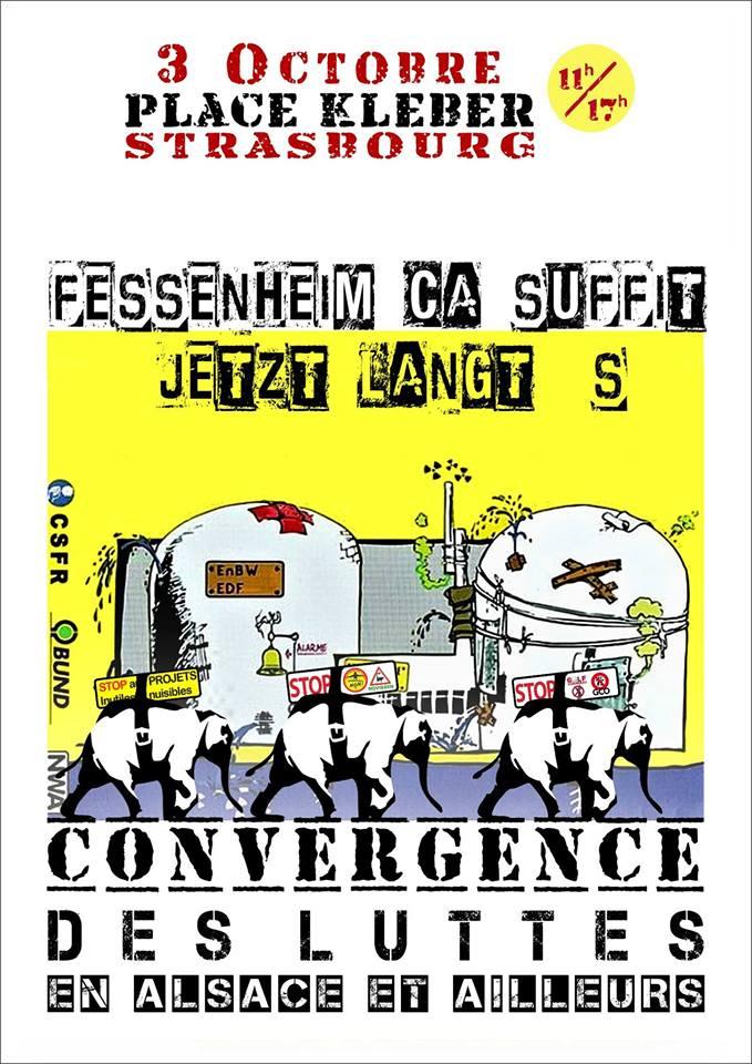 Convergence des Luttes – FESSENHEIM CA SUFFIT ! – 3 octobre à Strasbourg