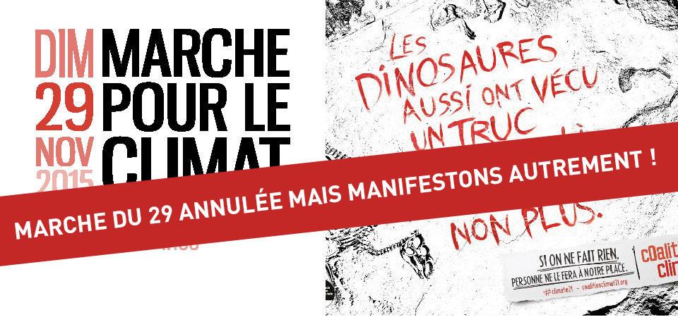 [Mobilisation] Manifestons pour le Climat – Alternatives à la Marche du 29 annulée par l'Etat