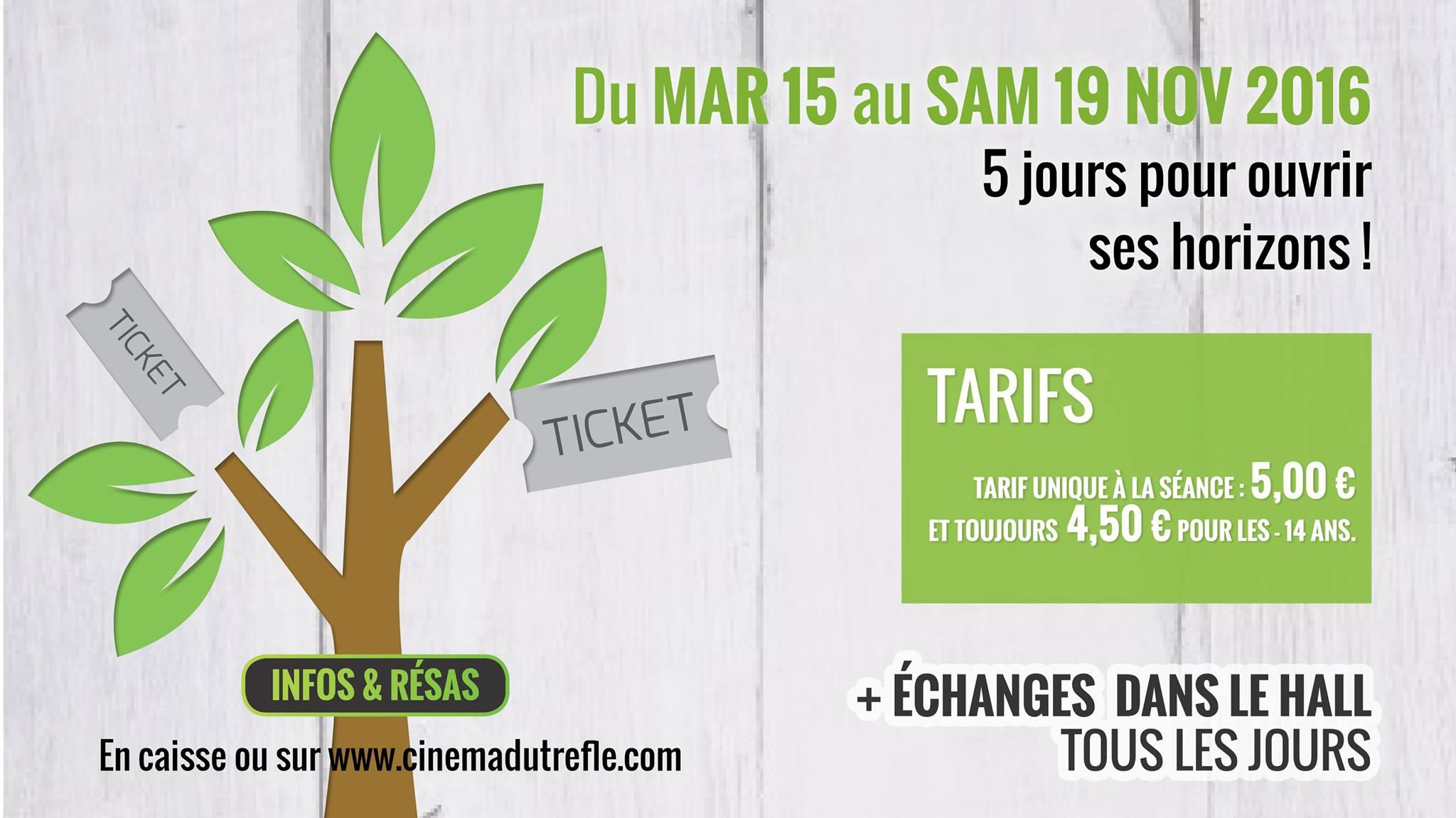 Du 15 au 19 novembre : Cinéma les Séances Vertes à Dorlisheim