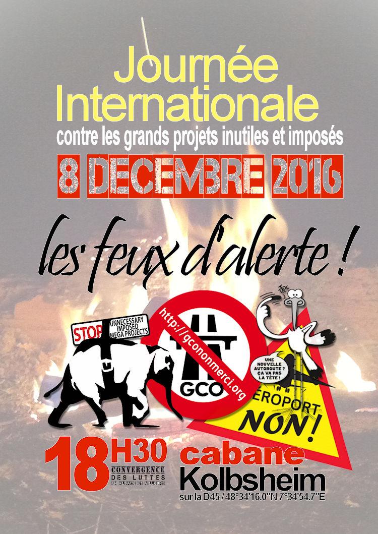 8 décembre : 7e JOURNÉE INTERNATIONALE contre les projets inutiles, nuisibles et imposés !
