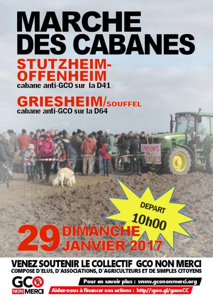 29 janvier : Venez nombreux à la Marche des cabanes entre Stutzheim et Griesheim