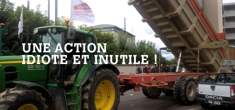 La manif anti-nature de la FDSEA 67 du18 septembre 2017 à Strasbourg