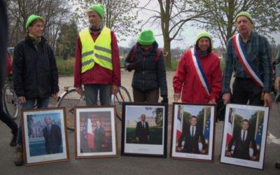 Les portraits de 4 présidents de la République sur le chantier du GCO