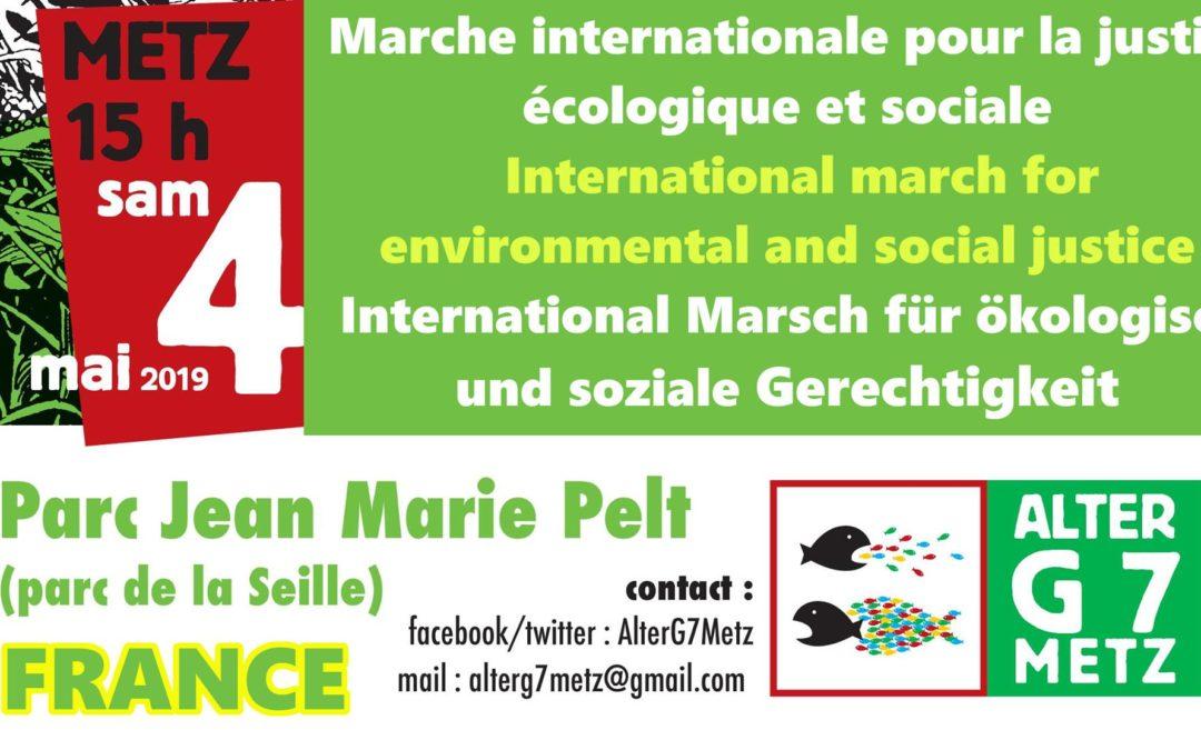 [Climat] Alter G7 à Metz : 4 mai – marche internationale pour la Justice écologique et sociale