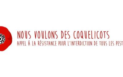 La mobilisation contre les pesticides se poursuit – prochains rassemblements «Coquelicots»