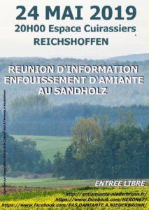 Réunion publique : enfouissement d'amiante au Sandholz @ Espace Cuirassiers Reichshoffen | Reichshoffen | France