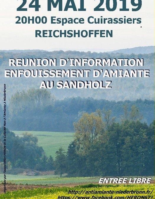 Réunion publique : enfouissement d'amiante au Sandholz