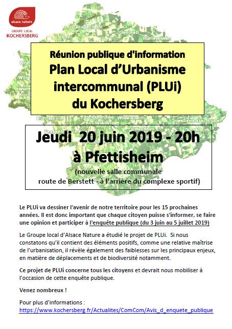 Réunion publique : Plan Local d'urbanisme intercommunal (PLUi) du Kochersberg
