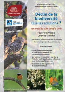 Conférence-débat :Déclin de la Biodiversité, quelles solutions ? @ Mutzig   Mutzig   Grand Est   France