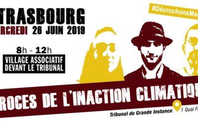 26 juin 2019 : Procès de l'inaction climatique à Strasbourg