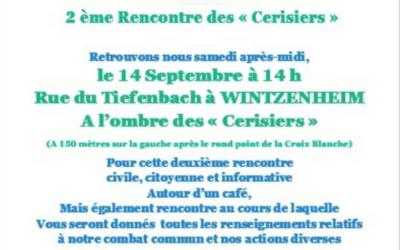 zone d'activité au Tiefenbach –  Wintzenheim – rencontre le 14 septembre