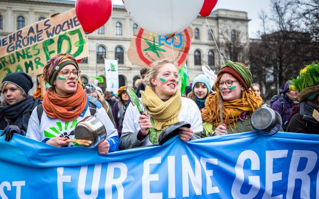Rassemblement devant le Parlement européen pour une autre Politique Agricole Commune