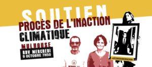 9 octobre : Soutien Anne et Patrick Procès de l'Inaction Climatique Mulhouse @ Tribunal de grande instance de Mulhouse   Mulhouse   Grand Est   France