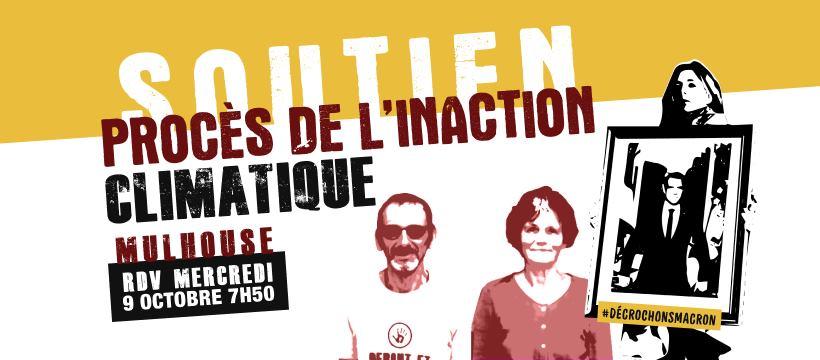 9 octobre : Soutien Anne et Patrick Procès de l'Inaction Climatique Mulhouse