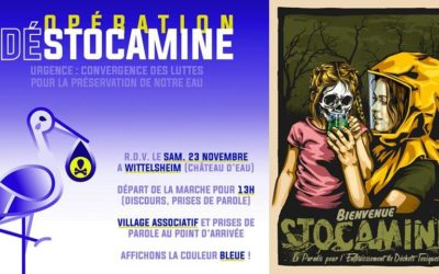 Stocamine : rassemblement 23 nov 2019 à Wittelsheim