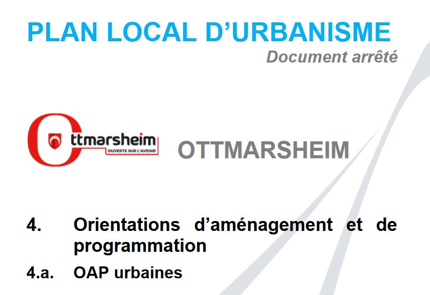 Recours gracieux – modification du PLU d'Ottmarsheim