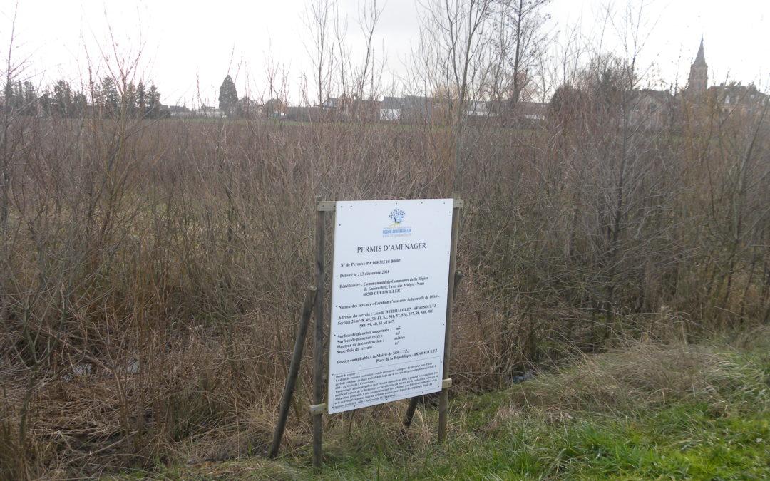 Confirmation de la création d'une nouvelle zone d'activités à Soultz – le groupe local Alsace Nature Florival réagit