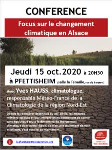 [Conférence] Focus sur le changement climatique en Alsace @ Pfettisheim (salle de la Tenaille) | Pfettisheim | Grand Est | France