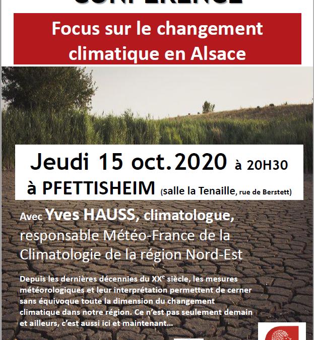 [Conférence] Focus sur le changement climatique en Alsace