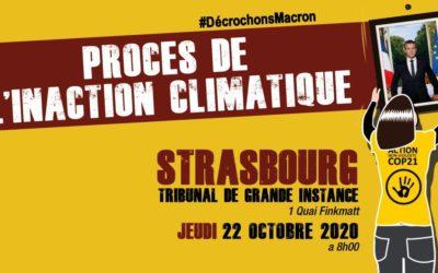 [Mobilisation] Climat : Soutien aux décrocheurs en procès à Strasbourg
