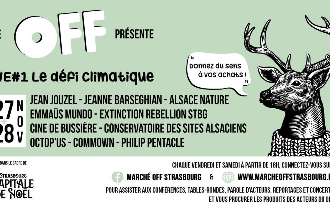 Alsace Nature au Marché Off de Strasbourg (conférences et débats en ligne)