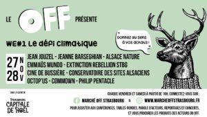 Alsace Nature au Marché Off de Strasbourg (conférences et débats en ligne) @ Strasbourg