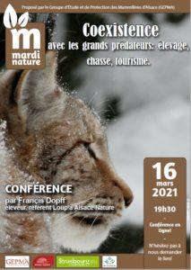 Mardi Nature (en visio): Co-existence avec les grands prédateurs @ événement en ligne