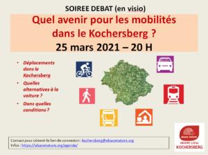 Soirée débat (en visio) : Quel avenir pour les mobilités dans le Kochersberg ? @ en ligne