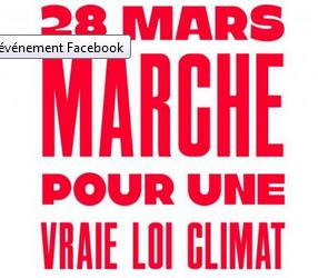 Pour une vraie loi CLIMAT, marchons le 27 mars à Mulhouse et le 28 mars à Strasbourg et Saint-Louis !