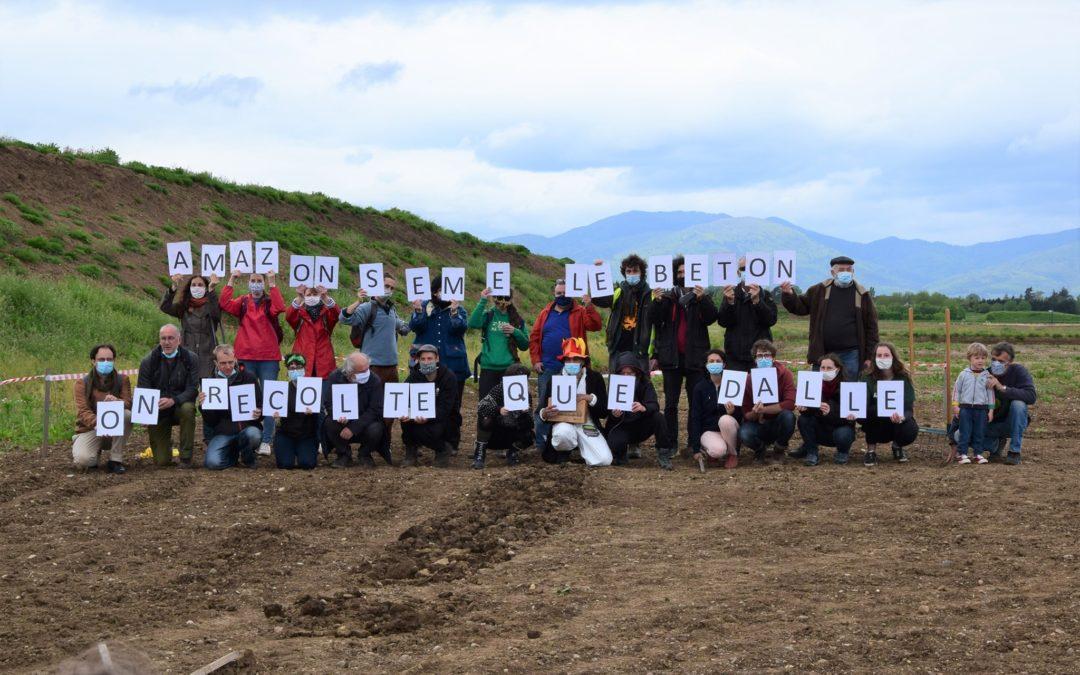 Retour sur la mobilisation contre l'implantation d'Amazon à Ensisheim le 15 mai