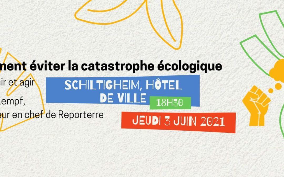 [Conférence] Comment éviter la catastrophe écologique ?