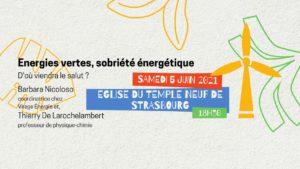[Table ronde] Energies vertes, sobriété énergétique : d'où viendra le salut ? @ Strasbourg   Strasbourg   Grand Est   France