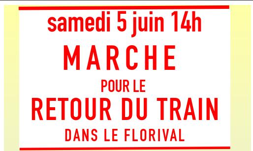 Manifestation pour le retour du train dans le Florival