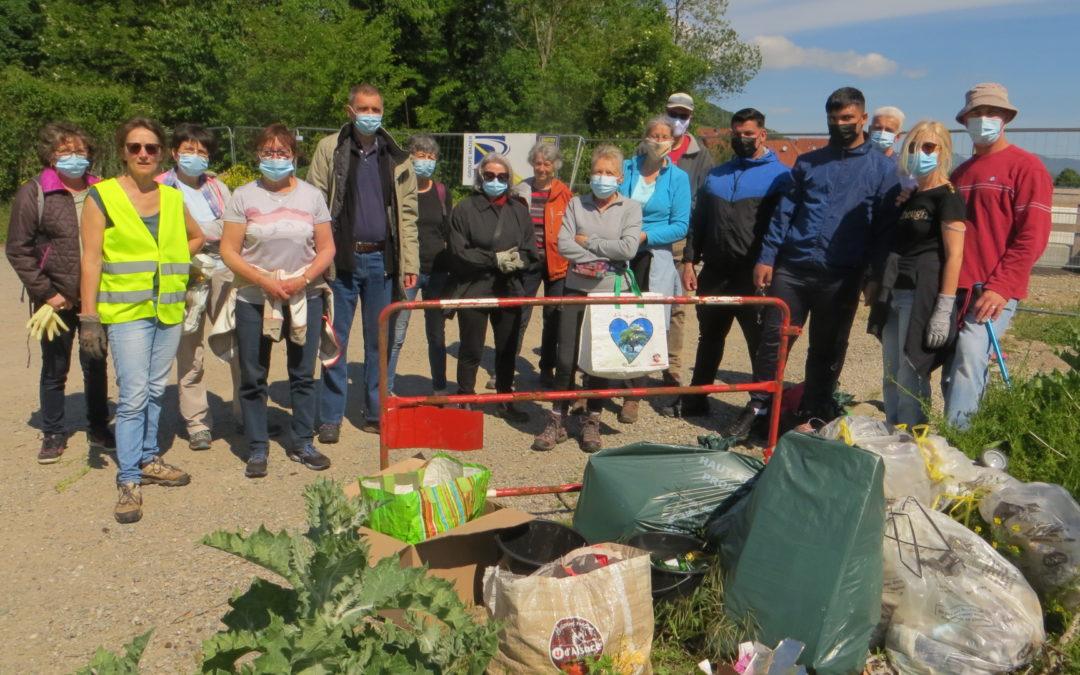 Florival : collectes de déchets sauvages