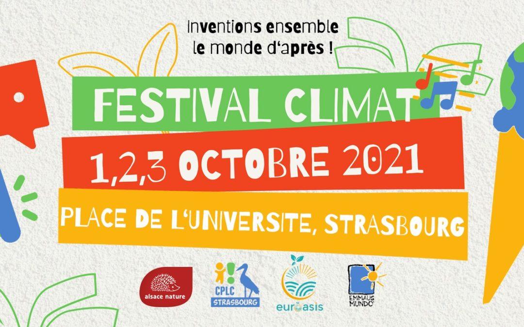 [Appel à bénévoles] Festival climat du 1er au 3 octobre à Strasbourg