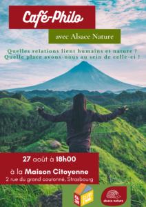 Café-Philo sur les relations Homme/Nature @ Maison citoyenne Strasbourg | Strasbourg | Grand Est | France