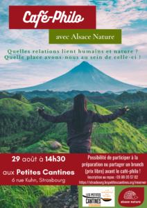 Café-Philo sur les relations Homme/Nature @ Les petites cantines   Strasbourg   Grand Est   France