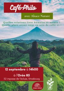 café-philo : relations entre humains et nature @ Orée85 Strasbourg | Strasbourg | Grand Est | France